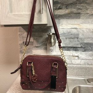 Burgundy Rosetti handbag